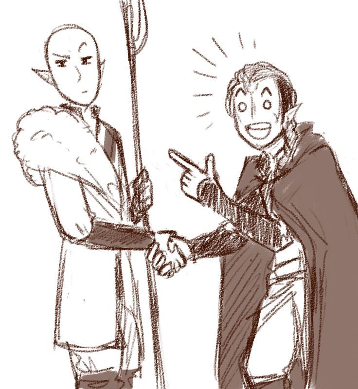 dandykyu:oKAY BUT WHAT IF FELASSAN GOT TO MEET SOLAS | Dragon Age ... (Okay, but what if solas didn't kill felassan in the first place)