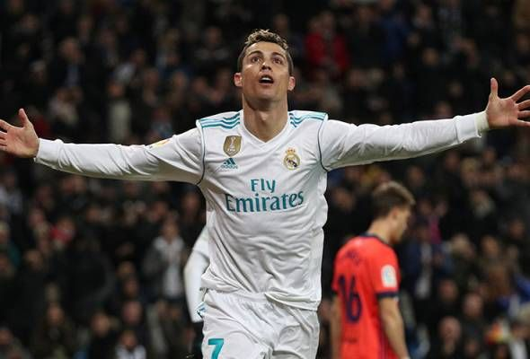 Ronaldo hits hat-trick as Real warm up for PSG clash   BARCELONA: Cristiano Ronaldo returned to his ruthless best firing home a hat-trick as Real Madrid thrashed Real Sociedad 5-2 on Saturday in La Liga to warm up for their Champions League clash with Paris St Germain in style.  Lucas Vazquez broke the deadlock for Real after 49 seconds and Ronaldo added the second after superb work by Marco Asensio and Marcelo.  Toni Kroos curled home the third from outside the area and Ronaldo headed home…