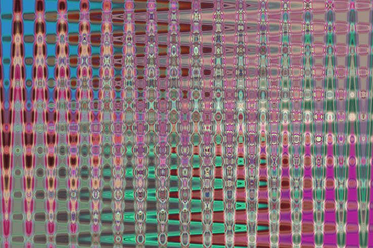 Pink Brown Blue Geometric Abstract by Jenny Rainbow