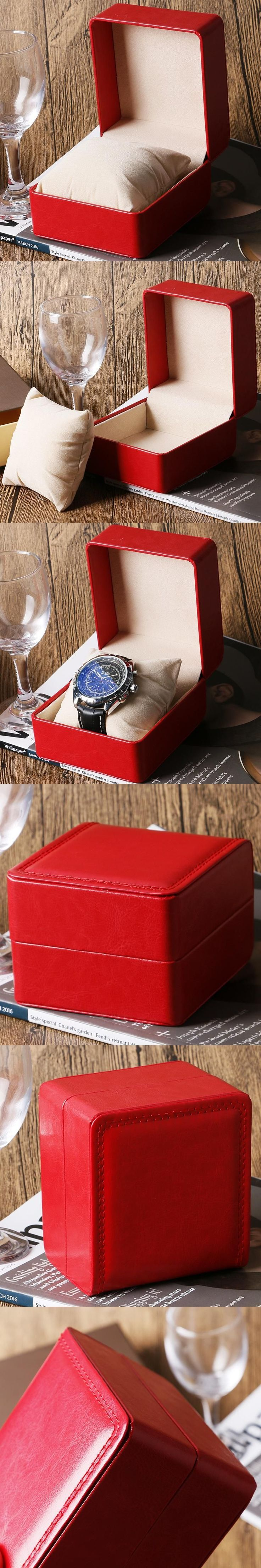 Organizer Luxury Fashion Foam Pad For Bracelet Bangle Watch Leather Watch Box Red Pillow Package Case  For Watch Jewelry #luxuryjewelrypackaging