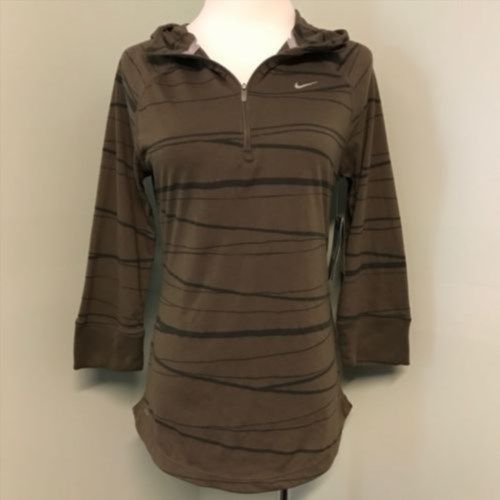 37.72$  Watch now - http://viyvi.justgood.pw/vig/item.php?t=mk1tfs11730 - New Nike Running M Soft Hand Dri Fit 1/4 Zip Brown Womens Hoodie Shirt 451402 37.72$