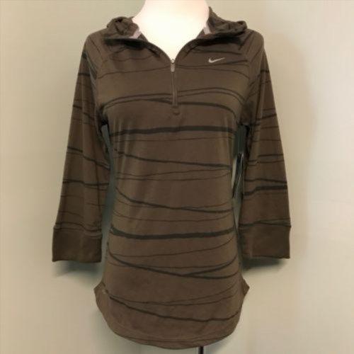 37.72$  Watch now - http://viyvi.justgood.pw/vig/item.php?t=mk1tfs11730 - New Nike Running M Soft Hand Dri Fit 1/4 Zip Brown Womens Hoodie Shirt 451402 37.72$
