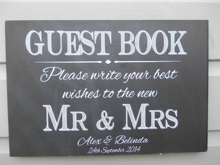 GUEST BOOK WOOD SIGN A4 Vintage Style PERSONALISED WEDDING WISH TREE