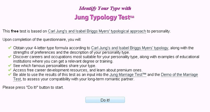 Jung Typology