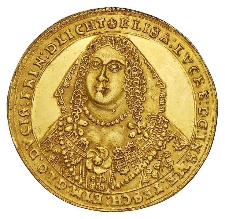 Gold 10 ducats of Duchess Elizabeth Lucretia of Teschen (Cieszyn) by Cieszyn Mint, 1650, Münzkabinett der Staatlichen Museen zu Berlin