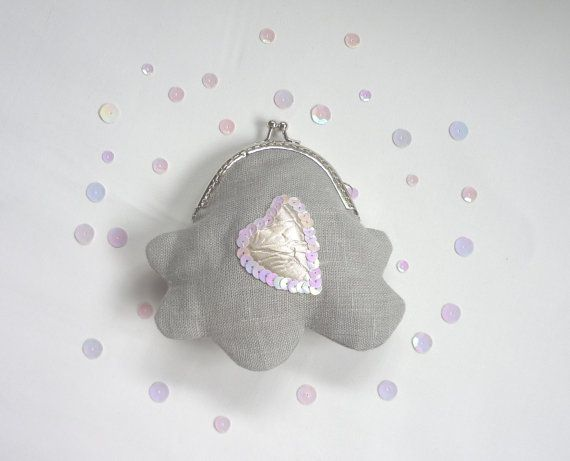 Cloud purse silver linings makeforgood grey coin by maplemist