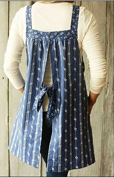 The Easy-On Apron is a classic simple shape that can be made as great kitchen wear, a fun topper for leggings or jeans, or even a swim cover-up! Choose cotton or corduroy in a fun print to put some wh