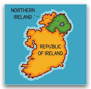 The 25 best northern ireland map ideas on pinterest ireland map what is the difference between ireland and northern ireland gumiabroncs Images