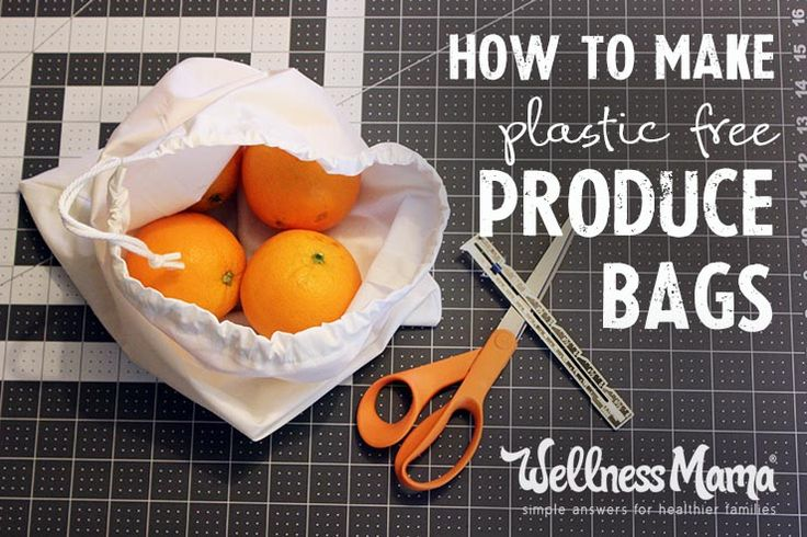 How to Make Your Own Produce Bags  Make plastic-free produce bags using organic cloth, mesh or even old t-shirts and avoid plastic at the store with this inexpensive and easy alternative!