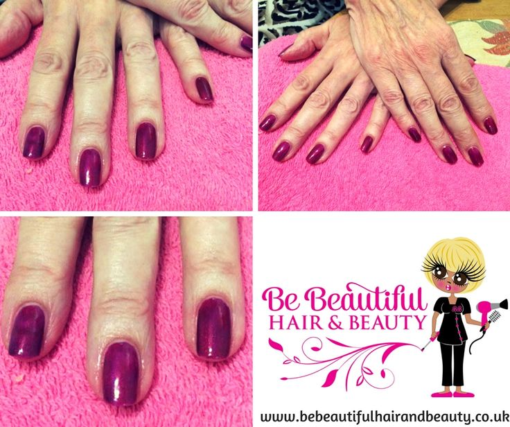 Bespoke colour created to match my clients outfit...#Shellac Purple Purple and Red Baroness..x