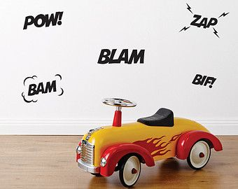 Superhero Fabric Wall Stickers | Wall Decals | Nursery & Kids decor