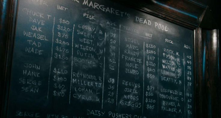 "Deadpool's ""Dead pool"" contained names like Vladimir Putin Mike Tyson Bill Cosby Lindsay Lohan and Charlie Sheen among others. Arnold Palmer was the first one from that list to actually die."