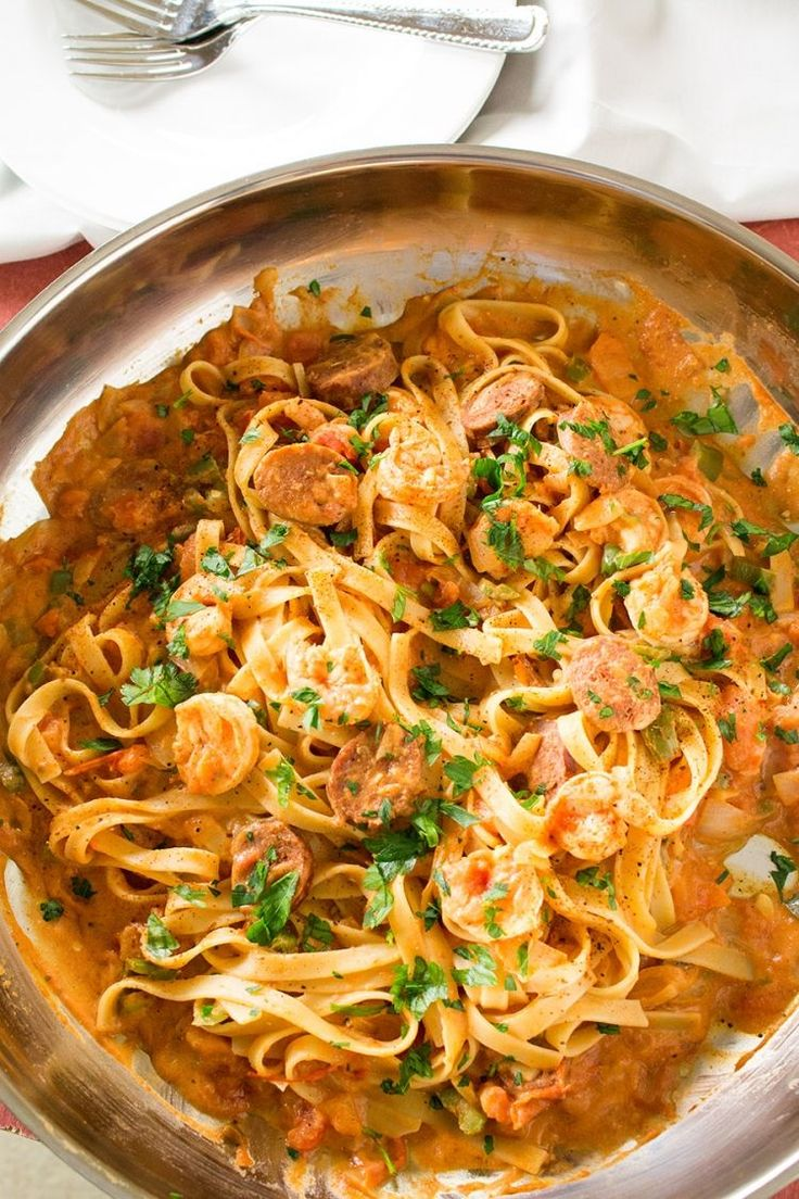 Love jambalaya? This recipe brings all of your favorite jambalaya flavors and transforms them into a tasty pasta dish.