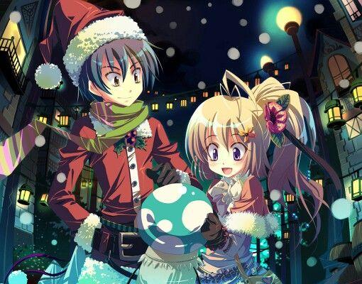 Anime christmas anime pinterest