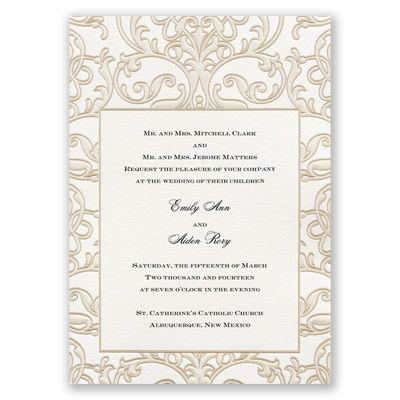 Center of Attention - Invitation | Invitations By David's Bridal