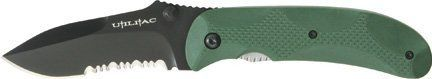 Ontario ON8788 Joe Pardue Utilitac Black Tactical Folding Knife Green Zytel Handle Combo Edge * You can find more details by visiting the affiliate link Amazon.com.