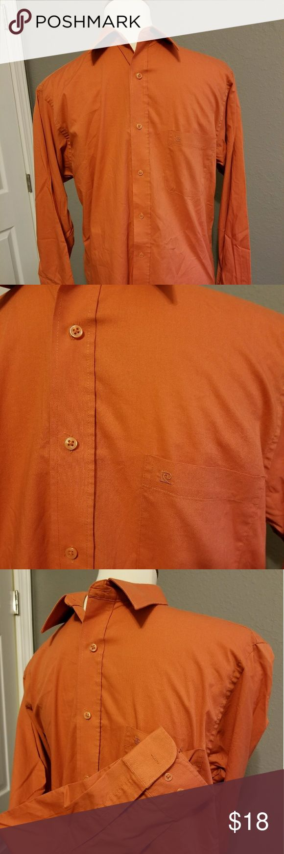 Mens button down* NWOT  34/35 Burnt orange.  Well made great details. Many shirts he's never worn.  I'll be postting more soon. 34/35 Pierre Cardin Shirts Dress Shirts