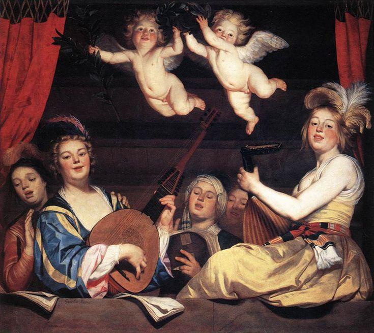Gerrit van Honthorst (1590-1656) Het concert (1624) Olie op doek 168 x 178 cm - Het Louvre