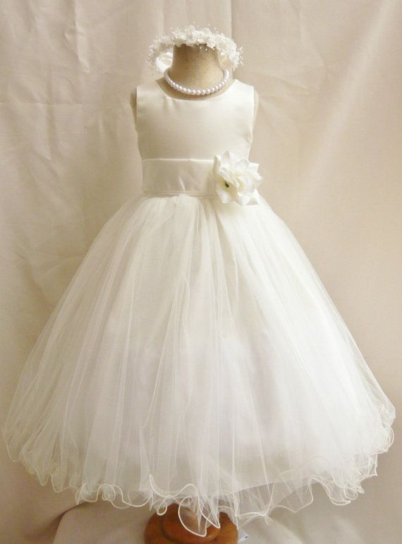 Flower Girl Dresses IVORY with Lilac FD0FL by NollaCollection