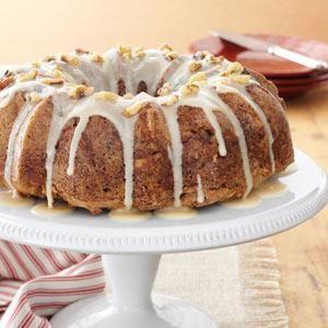 Caramel Apple Cake Recipe from Taste of Home