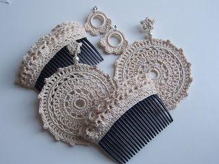 peinetas crochet   BELA: mayo 2012                                                                                                                                                                                 Más