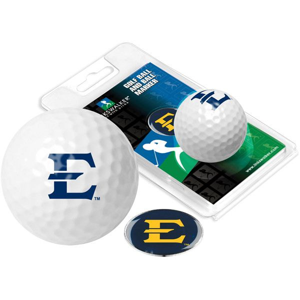 East Tennessee State Buccaneers - Golf Ball One Pack with Marker