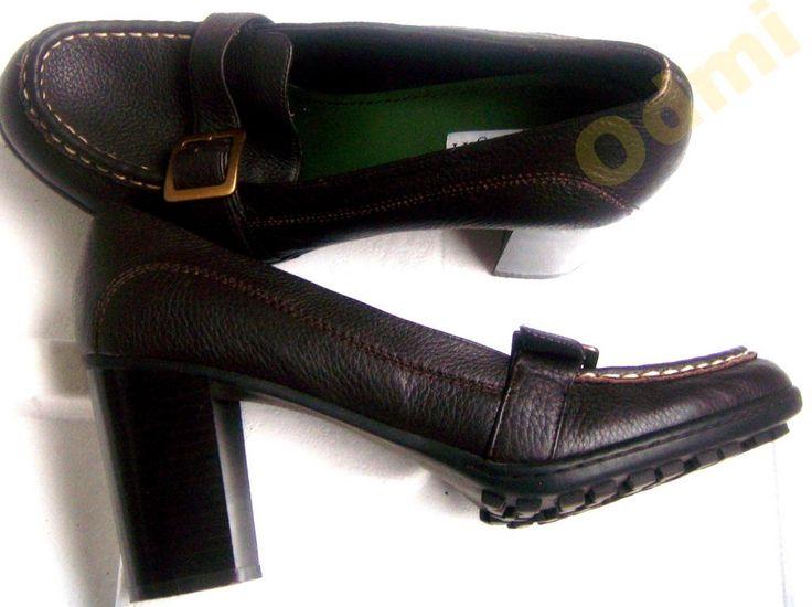 Лоферы  винтажные туфли кожа высокий каблук 39