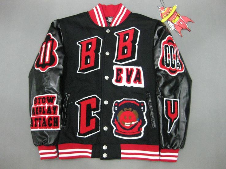 BBC EVA Varsity Jacket Black Cream Jackets, Billionaire
