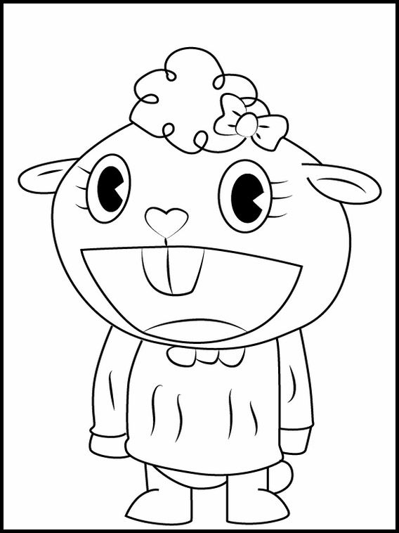 Happy Tree Friends Coloring Pages Designs Collections