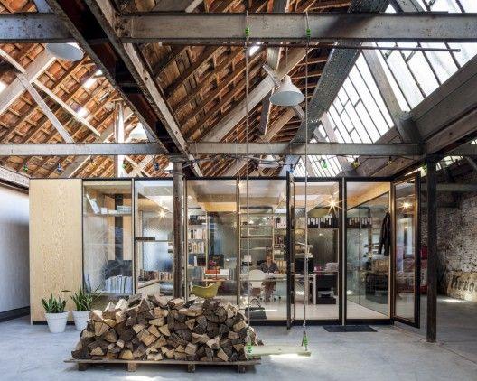 Fabriek werd woonhuis,  Julie D'Aubioul Architect © Tim Van de Velde