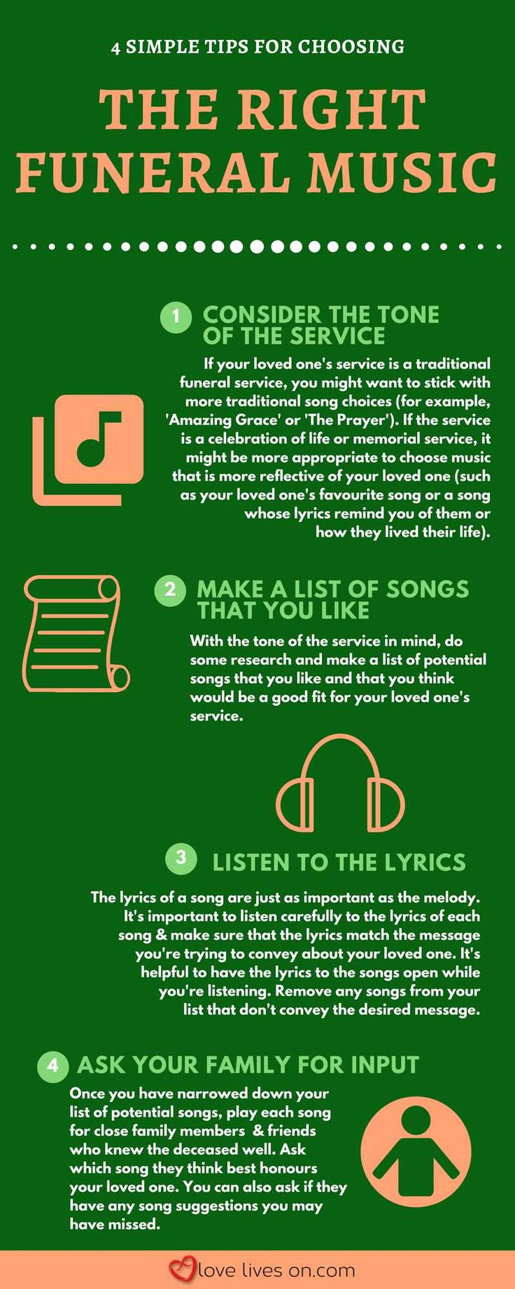 Infographic: 4 Tips to Help You Choose the Right Funeral Music