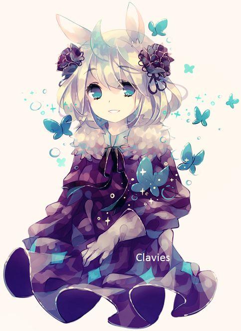 anime girl with rabbit ears