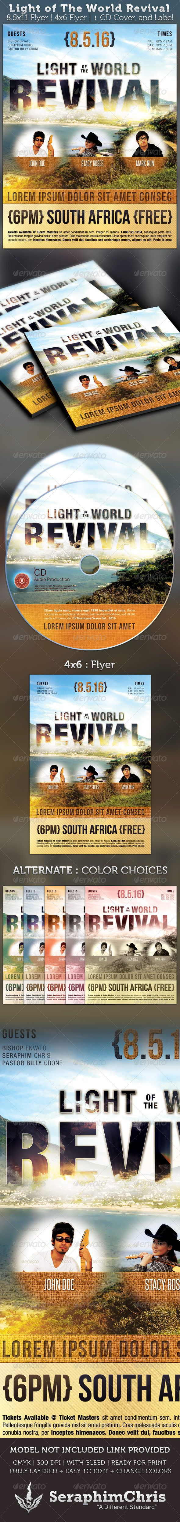 best images about print templates fonts flyer light of the world revival flyer and cd template graphicriver this light of the world