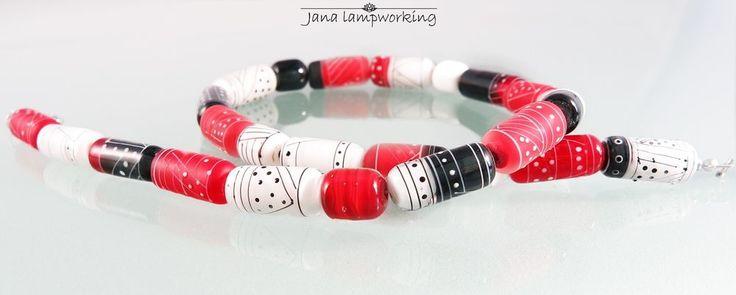 Elegant lampwork necklace #Handmade