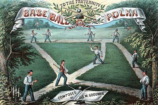Baseball Polka Music Sheet - Art Print  #9785872356677 #Baseball #Buyenlarge #New