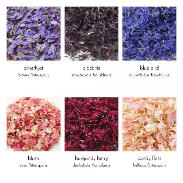 getrocknete Blütenblättern als Streudeko oder Wurfkonfetti