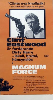 Magnum Force is the first in a series of sequels to the 1971 film Dirty Harry, starring Clint Eastwood returning as maverick cop Harry Callahan. Description from theclinteastwoodarchive.blogspot.com. I searched for this on bing.com/images