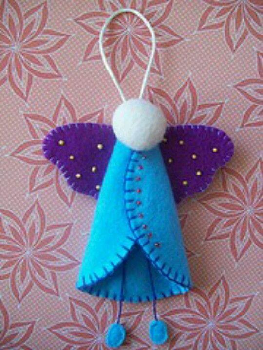 Cute felt ornament. Personalize too!