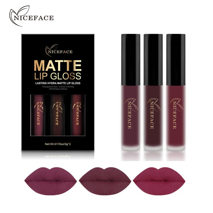BUY now 4 XMAS n NY. NICEFACE 3PCS Liquid Lipstick Set Long-Lasting Matte Lip Stick Make Up Waterproof Velvet Batom Nude Sexy Lip Gloss Cosmetics Kit ~ Just click the VISIT button for  AliExpress.com #christmastree