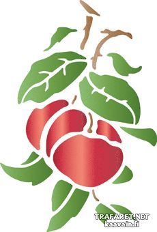Apples on a branch • stencil to design •