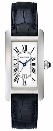 Cartier Tank Americaine 18k White Gold Midsize Watch W2603656