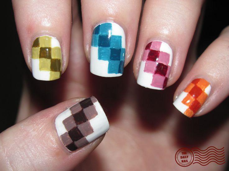 Fair and Square: Quilts Patterns, Squares Nails, Nailart, Nails Design, Nailpolish, Colors, Nails Ideas, Nails Polish, Nails Art Design