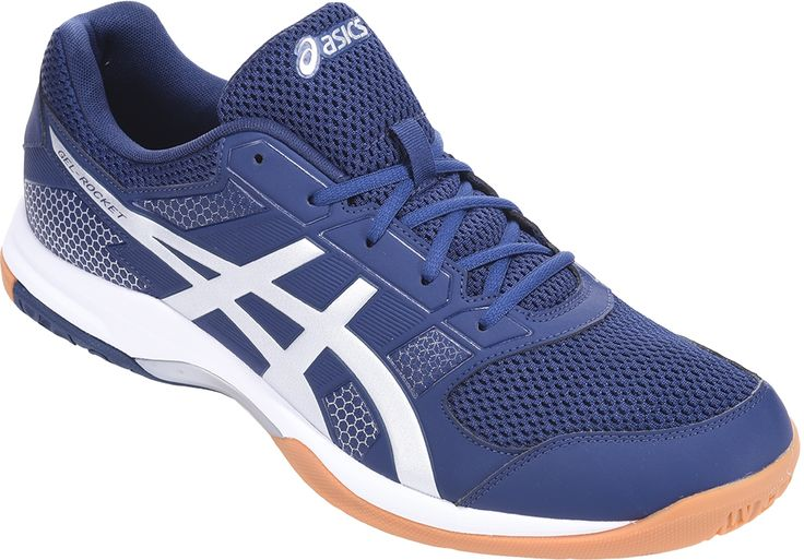 #ASICS Gel-Rocket 8 - Blue White #With exceptional fit, enhanced traction and upgraded, shock-absorbing cushioning, ASICS GEL-Rocket® 8 is a top-level shoe for an entry-level price. Known as a longtime favourite of beginner and intermediate court players, the latest GEL-Rocket® incarnation features ASICS stabilising Trusstic System® Technology, gum rubber on the outsole for traction and their signature Forefoot GEL® Cushioning System. (Barcode EAN=4549846192327)