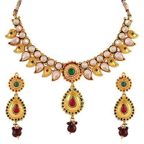 Elegant Indian Wedding Wear Gold Plated Red & Green Stone... https://www.amazon.com/dp/B06XRV5L7J/ref=cm_sw_r_pi_dp_x_TWY9ybEEYXGED