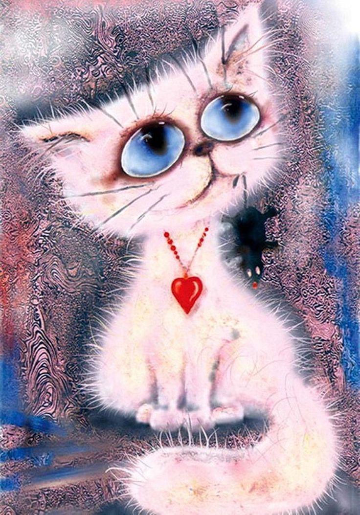 Прикольные картинки рисунки кошек, лилиями добрым утром