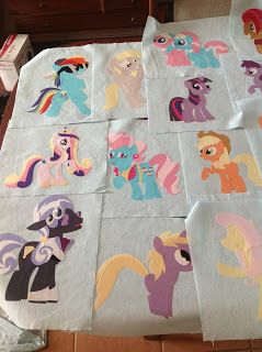 The Blue Artisan: My Little Pony Quilt. Part 1. Could be adapted to do a million crafts!