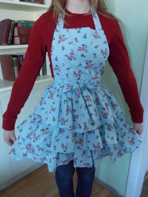 Hand Sewn Triple Tiered Robins Egg Blue Ladies by content2Bsew