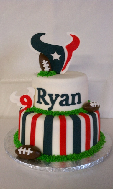 Texans Football Birthday Cake by Little Sugar Bake Shop, via Flickr