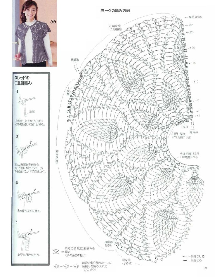 115 best chalecos images on pinterest knits knitting patterns and col arrondi ccuart Image collections
