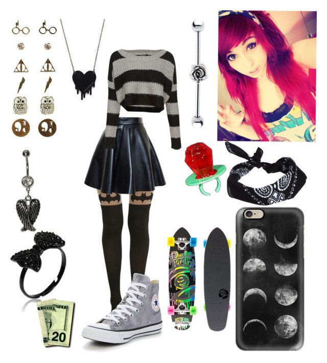 """""""Savannah78930"""" by x-2manybands-x ❤ liked on Polyvore featuring Misa, MSGM, QED London, Converse, ASOS, Casetify, Warner Bros., Alex and Chloe and Sector 9"""